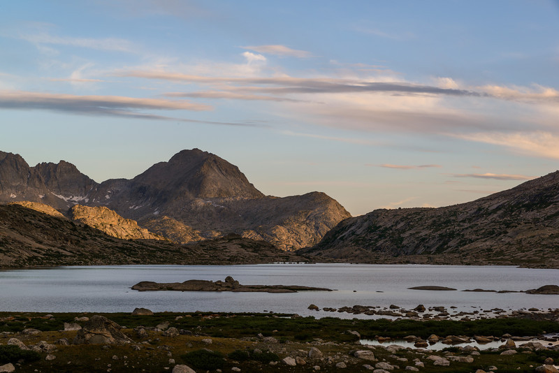 More from the lower Titcomb lake. Nice evening light but not much color.