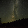 The Milky way as seen from behind our camp at Cook Lake.