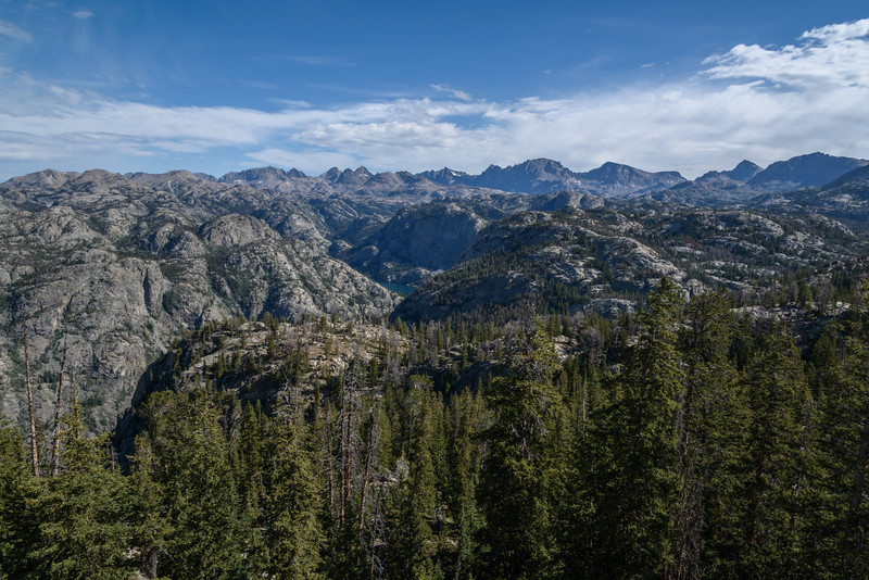 Back at photographer's point looking out over the Wind River Range.
