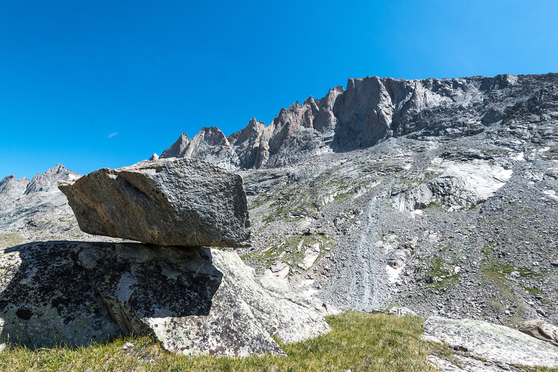 There were lots of balanced rocks around. Glaciers have an interesting way of leaving their mark on the landscape.