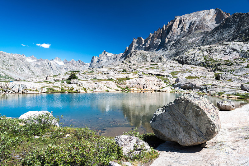 Day 4, we left Titcomb Basin and made our way to Indian Basin. This is just a small tarn along the way.