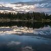Mary's Lake sunrise!