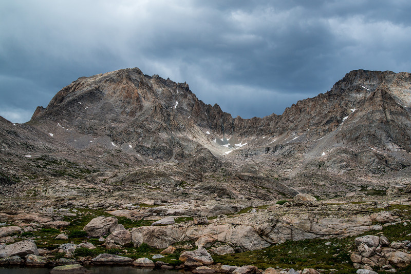 A short climb led us to Indian Basin and this magnificent view of Fremont Peak.
