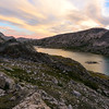 Probably the best light and color we had the entire trip. Lower Titcomb Lake reflected the colors beautifully...