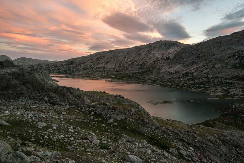 Dramatic color and light over the lower lake.