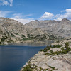 Our second day at the Cook Lakes, Steve and I decided to walk about 5 miles up to Wall Lake. Miles sure are a lot easier with day packs rather than the big packs we were lugging around. Austere and beautiful, the Wall Lake was certainly worth the trip up here.