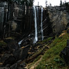 After a LOT of climbing in the dark, the sky began to brighten as I came across my first good look at Vernal Falls