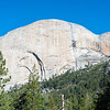 On the way to Little Yosemite Valley, one get's a good view of the back side of Half Dome.
