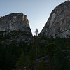 Views on the way to Nevada Falls. I believe the Mountain to the left is Moraine Dome