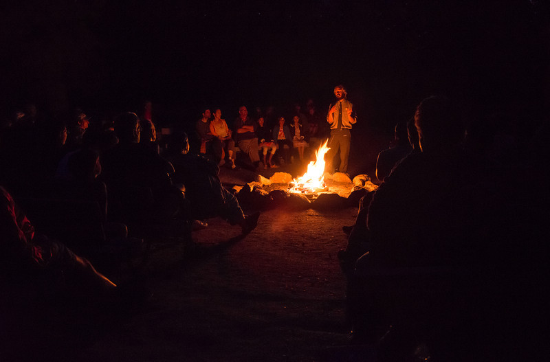 The evening wore on and I was still compelled to listen to the Ranger's stories, information, and of course his songs. Definitely a worth while experience.