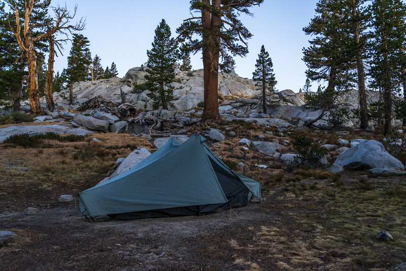 A couple miles past Donahue Pass I found a good spot to call it a day.