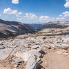 From the top of Donahue Pass. Lyell Canyon in the distance.