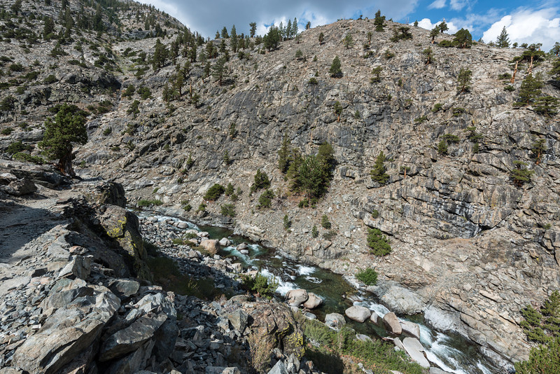 The San Joaquin River flowing through the Canyon. It was a long way down at this point.