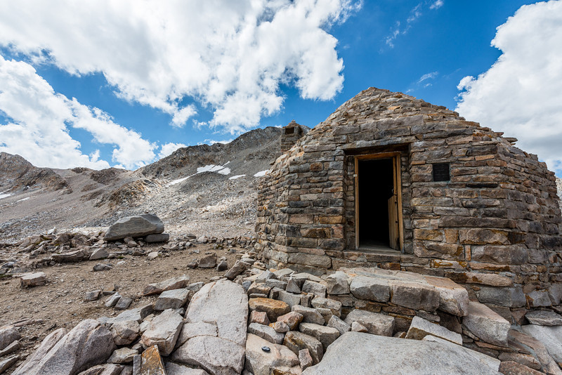 After a morning of climbing, I made it to Muir Pass and the Muir hut! There were several people already here when I arrived. I had lunch, chatted with folks, and took a few pictures.