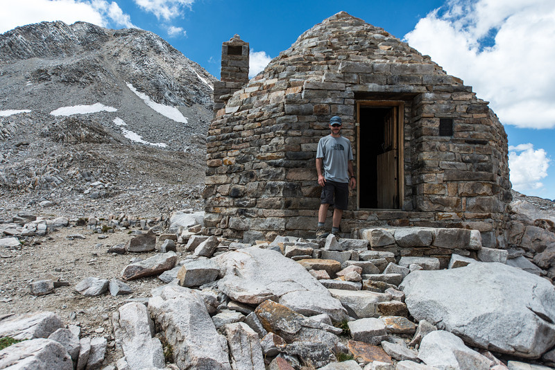 Me next to the Muir hut