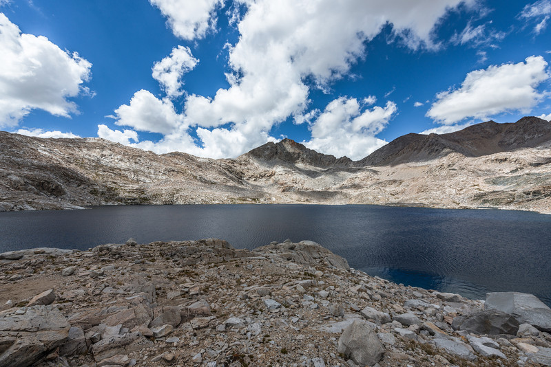 After leaving Muir Pass the long descent down began. Early on I passed by Helen Lake which again was named after one of John Muir's daughters.