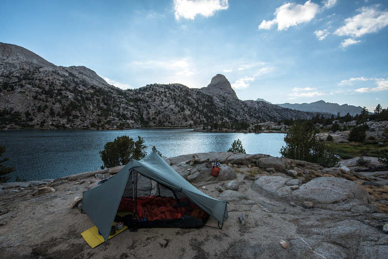 I know how to pick a good campsite. What a view! Fin Dome in the background.