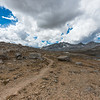 A view south from Upper Basin on the road to Pinchot Pass. Storms were brewing...