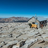 From the Summit of Mount Whitney. The shelter was having some work done.
