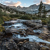 A beautiful cascade flowing through the enchanted meadow. I have more pictures of this beauty that I'll post later. The ridgeline above held Forester Pass.