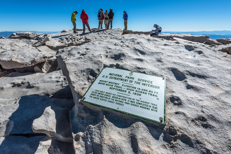 Several folks were standing around on the summit despite the frigid and windy conditions.