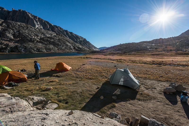 Base camp. Guitar Lake.