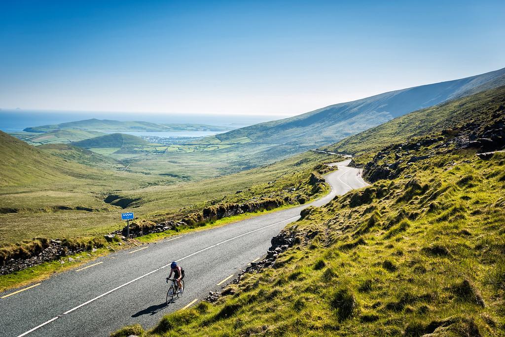 Connor Pass on Dingle_bike