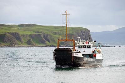 Car Ferry approaching Rathlin Island Co Antrim