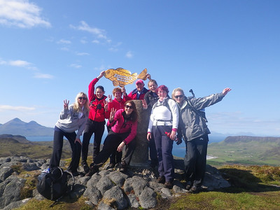 Highlight of day 1 - the summit of An Sgurr