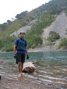 Jason goes for a pre-lunch paddle in the beautiful Lochan Uaine (the green lochan).