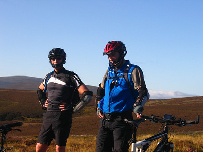 Day 3 - Tomintoul to Kingussie - one of Scotland's best day rides. Blue skies and 18 degrees; perfect biking weather.