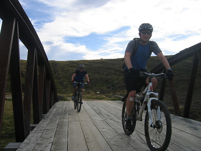 Day 2 - Against the westerly. Crossing the River Gairn for the final push into the Cairngorms.