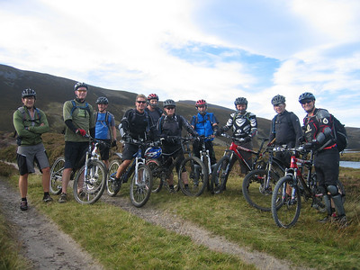 Day 2 - The South Downs Team at the watershed in the Cairngorms.