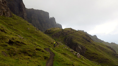 Challenging riding on the technical singletrack with strong winds and heavy showers.