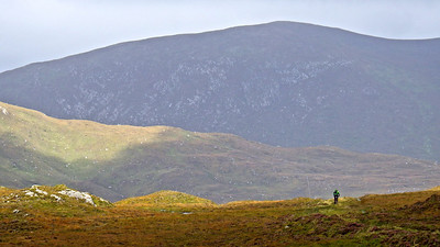 On one of Harris' ancient routes at the start of the mountain loop.