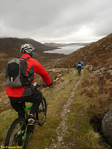 The 1st descent on d2 of cycling (just after seeing our 2nd close view of golden eagles). North Harris Hills Loop.