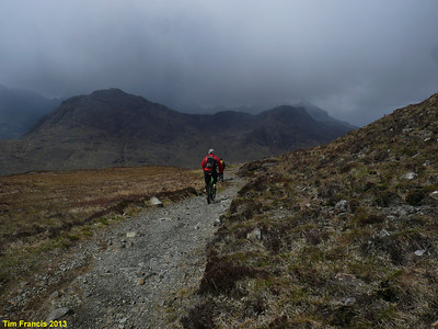 Topping out on Am Mam for the descent to Glen Sligachan, Skye. This was shortly after the hailstone bombardment and seconds before the 40mph gusts! Turned out nice though.