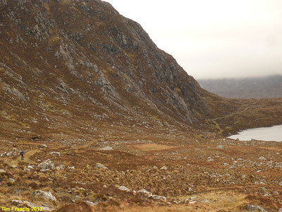 After the 2nd pass of the day our route descended past Loch Chleistir to Gleann Mhiabhaig.
