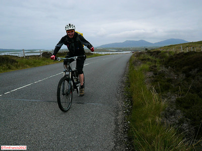 Tim, North Uist on the way to Berneray.