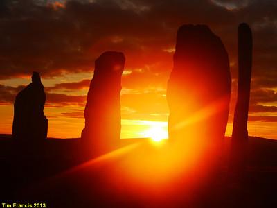 D6. The amazing sunrise at Callanais Stone Circle.