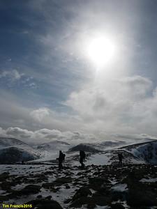 Exploring the Cairngorm plateau.