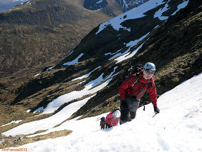 Now this is what it is all about - topping out of the G1 on the way to Stob Poite Coire Ardair, Coire a' Chriochairein, Creag Meagaidh NNR.