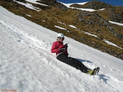 Winter skills, Creag Meagaidh NNR.
