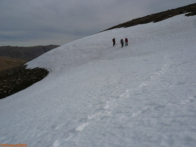 There is still some snow on the Cairngorm Plateau.