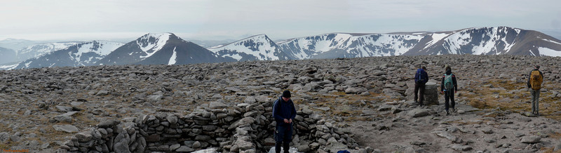 Braeriach, Sgor an Lochain Uaine & Cairn Toul from Ben Macdui.