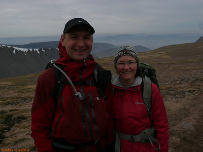 Julia & Paul smile during our tour of the Cairngorm Plateau.