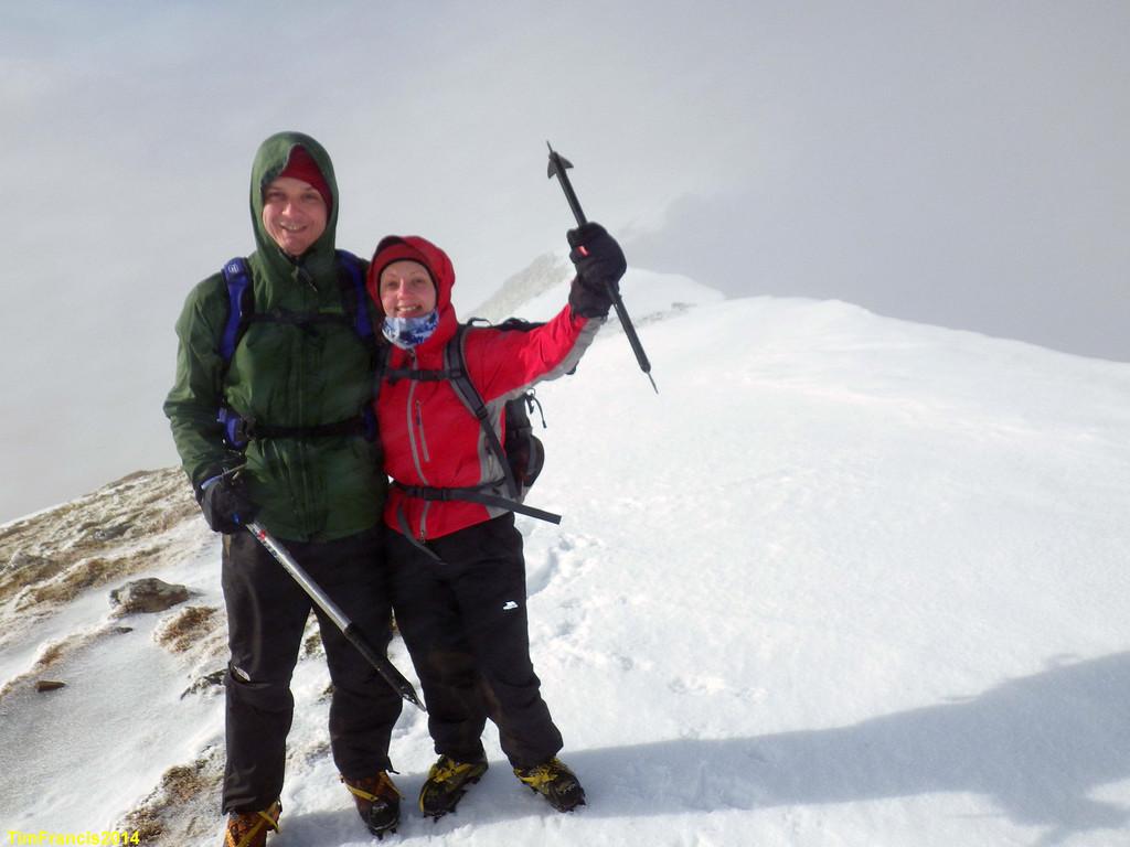 Summit tastic. Looking along the fine ridge of Ladhar Bheinn.