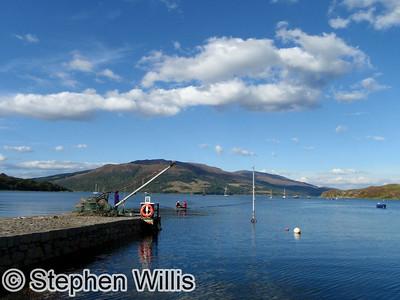 The tender coming into Isle Oronsay, Skye