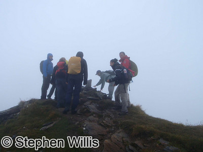 Sadly no views from the summit!