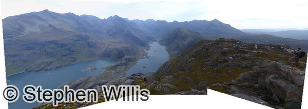 Panorama (of dubious quality!) of Loch Coruisk and the Black Cuillin